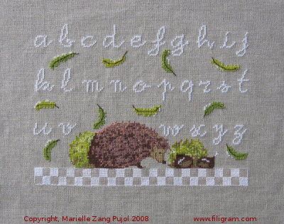 click here to view larger image of Lower Case ABC Tiny Hedgehog (chart)