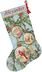click here to view larger image of Enchanted Ornament Stocking (counted cross stitch kit)