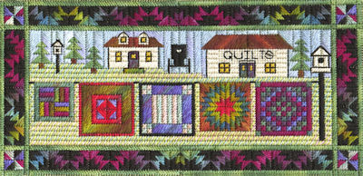 click here to view larger image of Airing The Quilts (counted canvas chart)