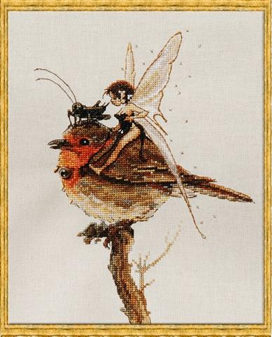 click here to view larger image of F�e au Rouge-Gorge (KIT) (counted cross stitch kit)