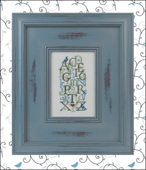 click here to view larger image of Bluebird Alphabet (chart with charms/buttons)