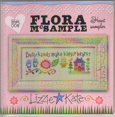 click here to view larger image of Flora McSample Heart Sampler (counted cross stitch kit)