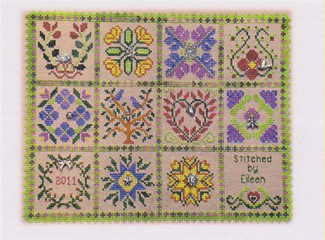 click here to view larger image of Baltimore Garden Quilt (counted cross stitch kit)