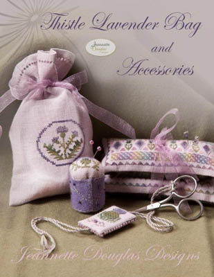 click here to view larger image of Thistle Lavender Bag and Accessories (chart)