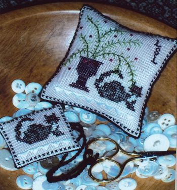 click here to view larger image of Chessie's Fern Pincushion and Fob (counted cross stitch kit)