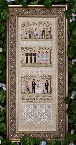 click here to view larger image of Garden Wedding Sampler (chart)