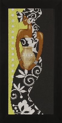 click here to view larger image of African Lady with Vase - 27ct (counted cross stitch kit)
