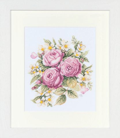 click here to view larger image of Peony Bouquet by Marjolein Bastin - 27ct (counted cross stitch kit)