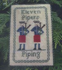 click here to view larger image of Eleven Pipers Piping (chart)