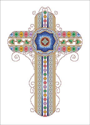 click here to view larger image of Byzantine Cross (chart)