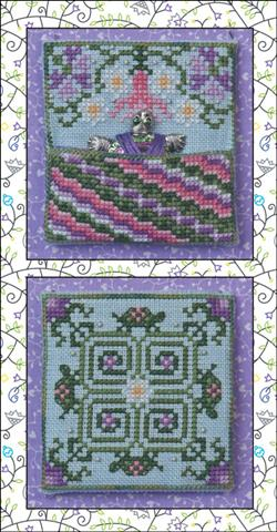 click here to view larger image of Painted Turtle Pocket (chart with charms/buttons)