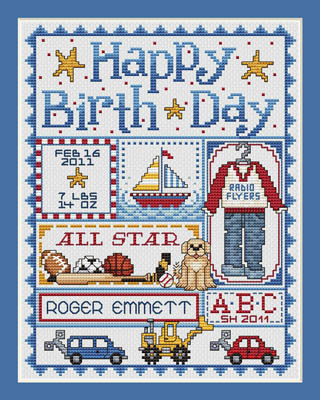 click here to view larger image of Happy Birthday - Boy (chart)