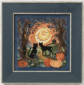 click here to view larger image of Moonlit Kitties (2011) (counted cross stitch kit)