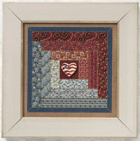 click here to view larger image of Log Cabin  (2011) (counted cross stitch kit)