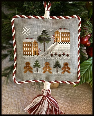 click here to view larger image of Gingerbread Village Ornament (chart)