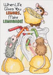 click here to view larger image of House Mouse Make Lemonade (counted cross stitch kit)