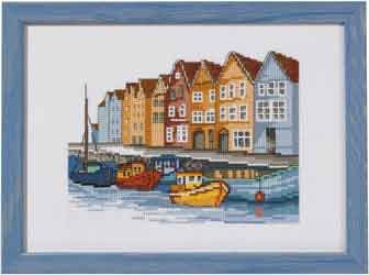 click here to view larger image of Boats (counted cross stitch kit)