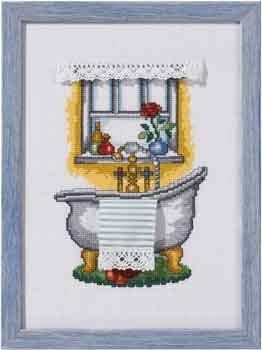 click here to view larger image of Bathroom (counted cross stitch kit)