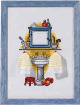 click here to view larger image of Washroom (counted cross stitch kit)