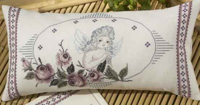 click here to view larger image of Angel Pillow (counted cross stitch kit)