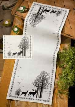 click here to view larger image of Deer Moose Runner (counted cross stitch kit)