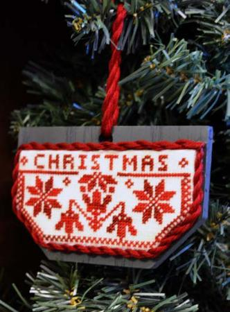 click here to view larger image of Quaker Christmas - Folk Art Wooden Ornament (chart)