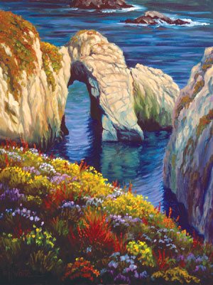 click here to view larger image of Last Light Point Lobos (counted cross stitch kit)