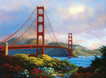 click here to view larger image of Morning at the Golden Gate (counted cross stitch kit)
