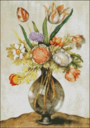 click here to view larger image of Garzoni - Tulips in a Glass Vase (chart)