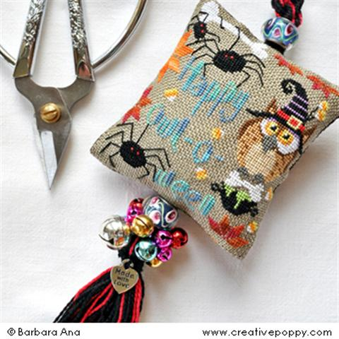 click here to view larger image of Owl-o-ween Scissor Fob (chart)