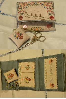 click here to view larger image of Spring in Tuscany Sewing Set (chart)