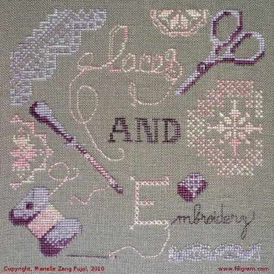 click here to view larger image of Lace and Embroidery (chart)