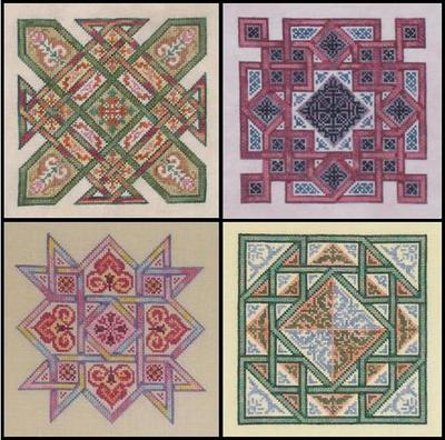click here to view larger image of Celtic Quilts (Set of Four Charts) (chart)