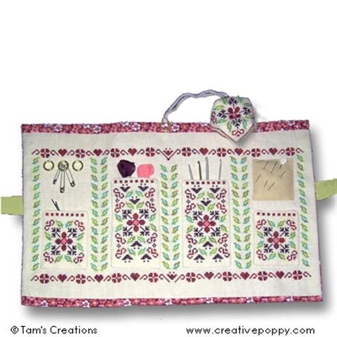 click here to view larger image of Cranberry Sewing Set (chart)