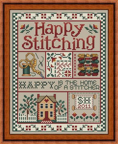 click here to view larger image of Happy Stitching (chart)