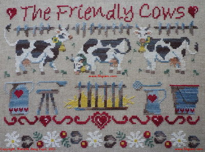 click here to view larger image of Friendly Cows, The (chart)