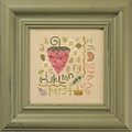 click here to view larger image of Flora McSample Strawberry Sampler - Quick-it (chart with charms/buttons)