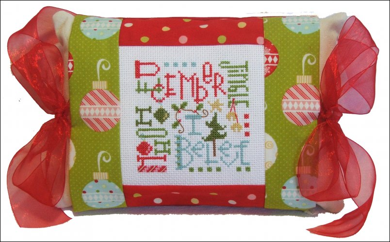 click here to view larger image of December Expressions  (Tie one on) (counted cross stitch kit)