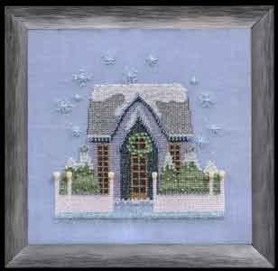 click here to view larger image of Little Snowy Gray Cottage - Snow Globe Village Series (chart)