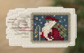 click here to view larger image of Holiday Stamp (counted cross stitch kit)