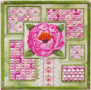 click here to view larger image of Peony Collage (counted canvas chart)