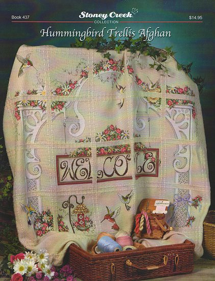 click here to view larger image of Hummingbird Trellis Afghan (book)