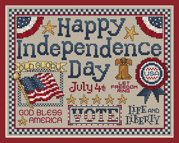 click here to view larger image of Happy Independence Day (chart)