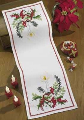 click here to view larger image of Candle Tablerunner (counted cross stitch kit)