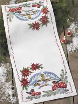 click here to view larger image of Christmas Tablerunner (counted cross stitch kit)