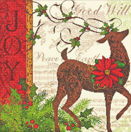 click here to view larger image of Winter Reindeer (counted cross stitch kit)