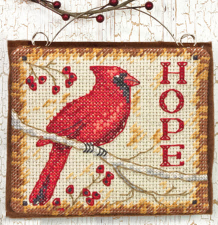 click here to view larger image of Hope Ornament (counted cross stitch kit)
