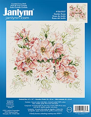 click here to view larger image of Garden Roses (counted cross stitch kit)