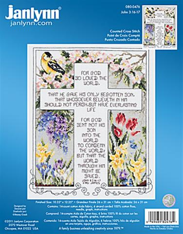 click here to view larger image of John 3.16 17 (counted cross stitch kit)