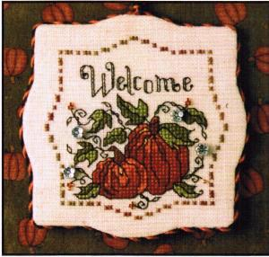 click here to view larger image of Autumn Pumpkins (counted cross stitch kit)